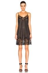 Givenchy Camisole Dress With Pinstripe Back In Black