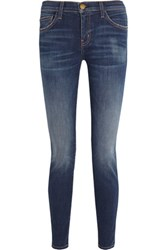 Current Elliott The Ankle Skinny Low Rise Jeans Dark Denim