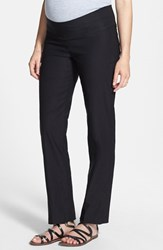 Women's Japanese Weekend 'Office' Straight Leg Maternity Pants Black