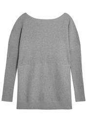 Finders Keepers Be Fine Grey Low Back Cotton Jumper
