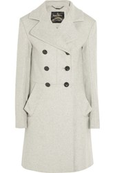 Vivienne Westwood Anglomania Corgi Wool Blend Coat Cream