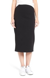 James Perse Women's Stretch Fleece Pencil Skirt