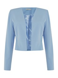 Shubette Crepe Jacket Light Blue