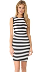 Ali And Jay Textured Stripe Dress Black White