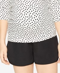 A Pea In The Pod Maternity Shorts Black