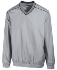 Pga Tour Men's Elements Long Sleeve V Neck Piped Windshirt Quiet Shad