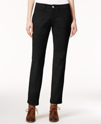 Tommy Hilfiger Montauk Straight Leg Chino Pants Only At Macy's Black