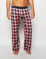 French Connection Lounge Pants In Check Red