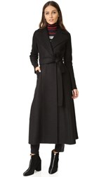 Harris Wharf London Long Duster Coat Dark Brown