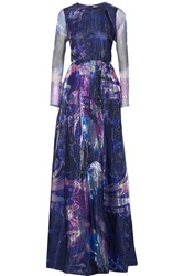 Matthew Williamson Printed Organza Gown