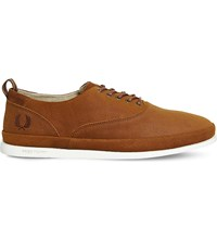 Fred Perry Lawson Leather Trainers Tan Leather