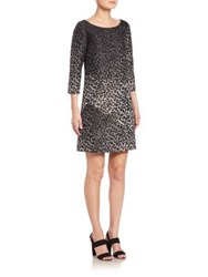 Creatures Of The Wind Dysona Leopard Print Dress Black Gold