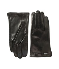Michael Michael Kors Deerskin Leather Gloves W Three Points And Handsewn Deer Suede Back Black Extreme Cold Weather Gloves
