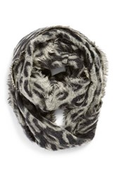 Junior Women's Bp. Leopard Print Woven Infinity Scarf