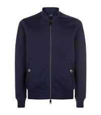 Armani Jeans Bomber Sweater Male Navy