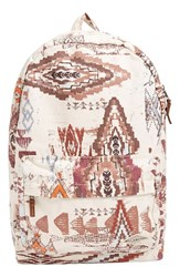Billabong 'Hand Over Love' Backpack White White Cap