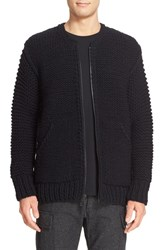 Wings Horns Men's Wing Zip Up Hand Knit Wool Sweater