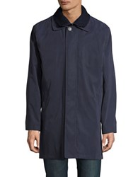 Lauren Ralph Lauren Button Front Raincoat Navy