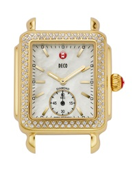 16Mm Deco Diamond Watch Head Gold Michele