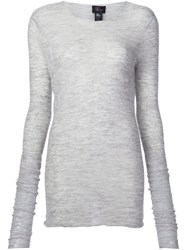 Lost And Found Ria Dunn Round Neck T Shirt Grey