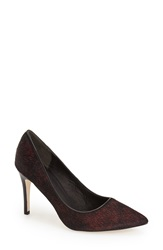 Adrianna Papell 'Adele' Pointy Toe Pump Women Red Metallic Haircalf
