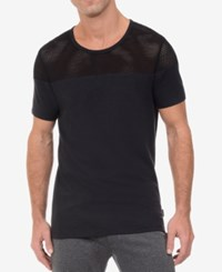 2Xist 2 X Ist Men's Open Mesh T Shirt Black