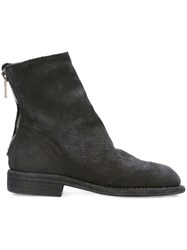 Guidi Linen Lined Boots Black