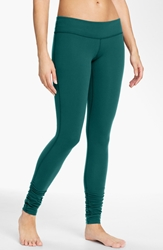 Beyond Yoga Gathered Leggings Green