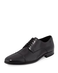 Hugo Boss Mation Cap Toe Lace Up Oxford Black