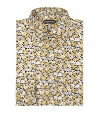 Tom Ford Floral Slim Fit Shirt Male Yellow