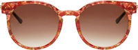 Thierry Lasry Dark Red Vintage Round Painty Sunglasses