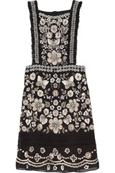 Needle And Thread Embellished Georgette Mini Dress Black