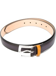 Paul Smith Buckle Belt Pink And Purple