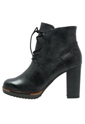 Marco Tozzi Platform Boots Navy Antic Dark Blue