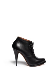 Givenchy 'Pure' Lace Up Leather Booties Black