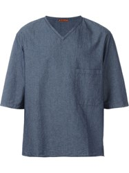 Barena Denim T Shirt Blue