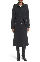 Michael Michael Kors Women's Long Belted Wool Blend Coat Grey