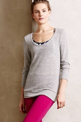 Beyond Yoga Draped Silver Pullover