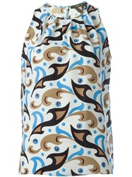 Etro Printed Tank Top Nude And Neutrals