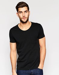 United Colors Of Benetton Scoop Neck T Shirt With Pocket Black