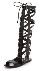 Sigerson Morrison Bright Tall Gladiator Sandals Black