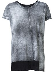 Avant Toi Washed Effect T Shirt Grey
