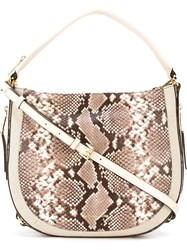 Michael Michael Kors Zipped Hobo Tote Nude And Neutrals