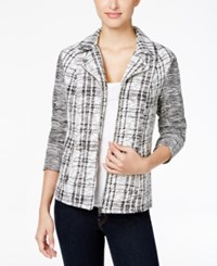 Styleandco. Style Co. Jacquard Plaid Blazer Only At Macy's Neutral Plaid