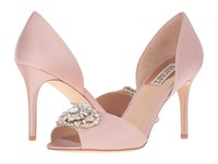 Badgley Mischka Dana Blush Satin Women's Dress Sandals Pink
