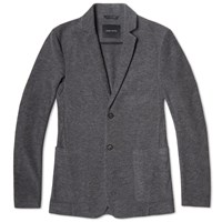 Wings Horns Wings Horns Knit Blazer Charcoal