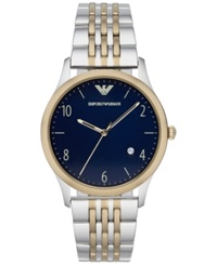 Emporio Armani Men's Two Tone Stainless Steel Bracelet Watch 43Mm Ar1868