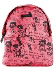 Dsquared2 Graffiti Print Backpack Pink And Purple