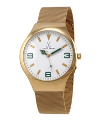 Toywatch Golden Mesh Bracelet Watch Green