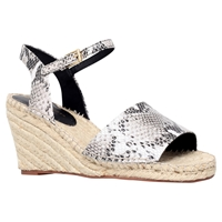 Kg By Kurt Geiger Naomi Leather Espadrille Wedge Heel Sandals